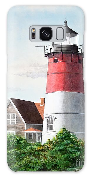Nauset Beach Memories Watercolor Painting Galaxy Case by Michelle Wiarda