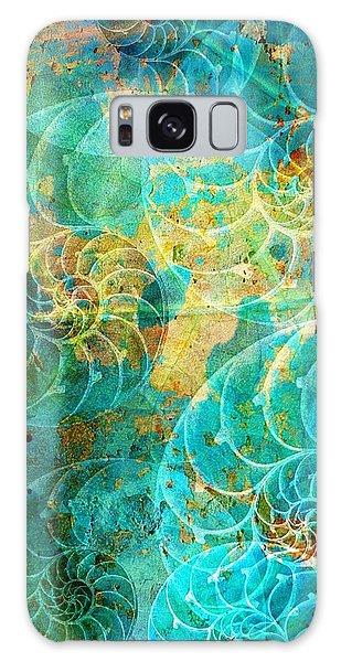 Nautilus Seashells In Aqua Galaxy Case