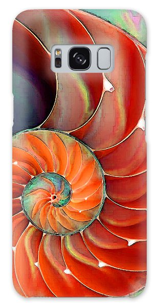 Nautilus Shell - Nature's Perfection Galaxy Case by Sharon Cummings