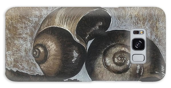 Nautilus Shells In Sepia Galaxy Case