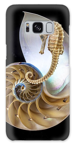 Nautilus With Seahorse Galaxy Case by Garry Gay