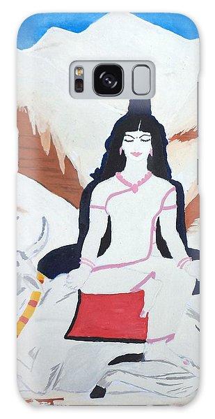 Nava Durga Mahagauri Galaxy Case