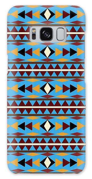 Native American Galaxy Case - Navajo Blue Pattern by Christina Rollo