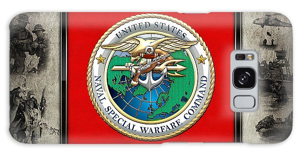 Naval Special Warfare Command - N S W C - Emblem  Over Navy Seals Collage Galaxy Case