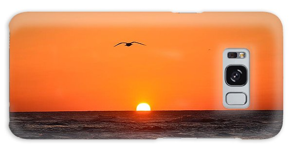 Navarre Beach Sunrise Waves And Bird Galaxy Case