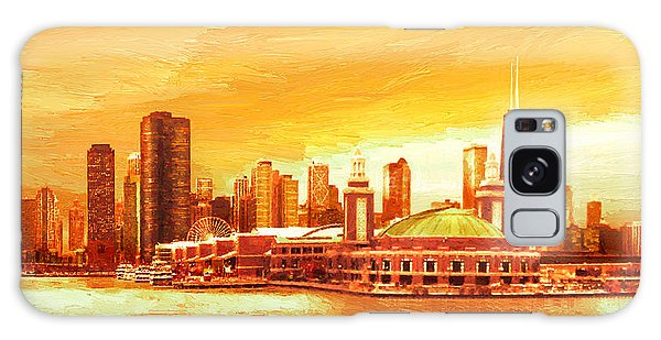 Navy Pier Chicago --autumn Galaxy Case by Doug Kreuger