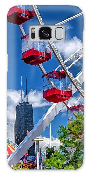 Chicago Navy Pier Ferris Wheel Galaxy Case