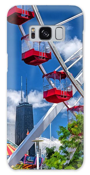 Galaxy Case featuring the painting Navy Pier Ferris Wheel by Christopher Arndt