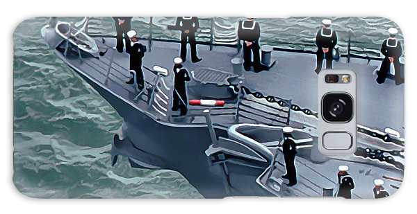Navy Sailors On The Bow Galaxy Case by Wernher Krutein