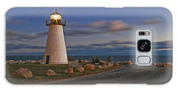 Neds Point Lighthouse In Evening Galaxy Case