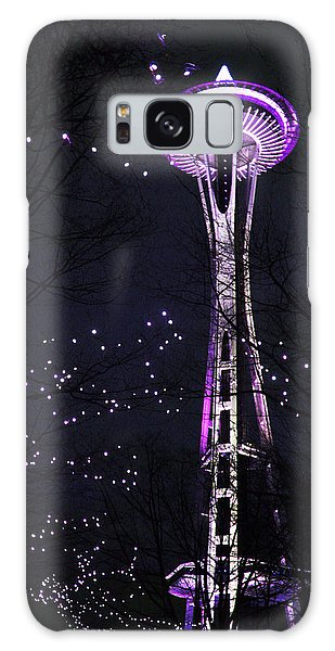 Needle In Purple Galaxy Case by Sonya Lang