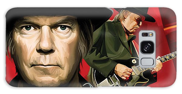 Neil Young Galaxy S8 Case - Neil Young Artwork by Sheraz A