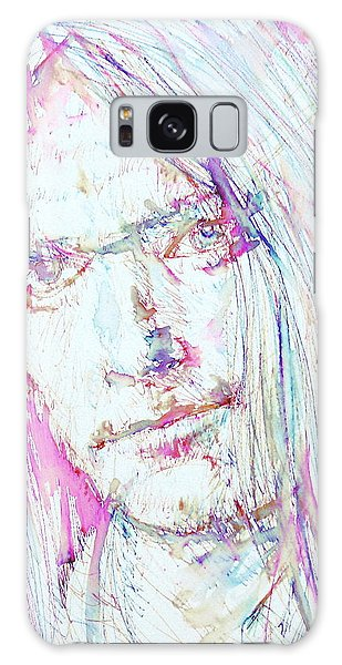 Neil Young Galaxy S8 Case - Neil Young - Colored Pens Portrait by Fabrizio Cassetta