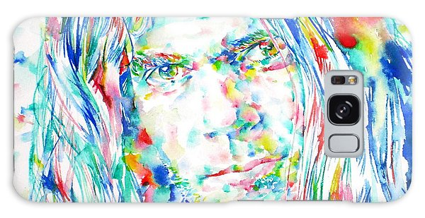 Neil Young Galaxy S8 Case - Neil Young - Watercolor Portrait by Fabrizio Cassetta