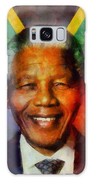 Nelson Mandela 1918-2013 Galaxy Case by Kai Saarto