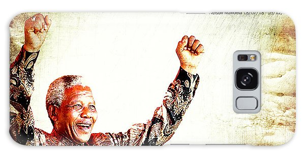 Nelson Mandela Galaxy Case by Spikey Mouse Photography