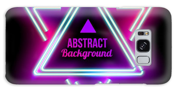 Beam Galaxy Case - Neon Abstract Triangle. Glowing Frame by Sabelskaya