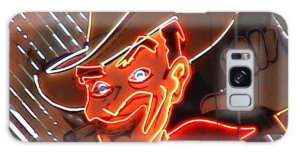 Neon Cowboy Of  Las Vegas Galaxy Case