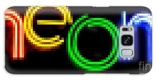Neon Galaxy Case