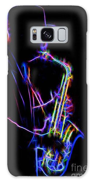 Neon Sax Galaxy Case