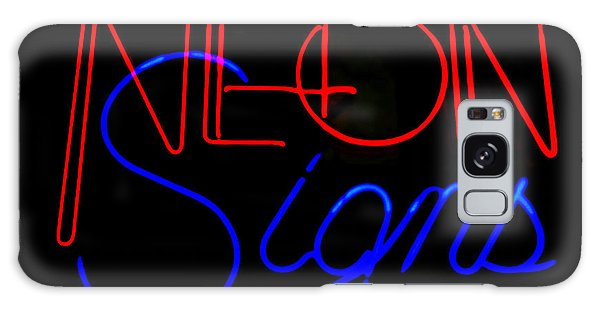 Neon Signs In Black Galaxy Case by Kelly Awad