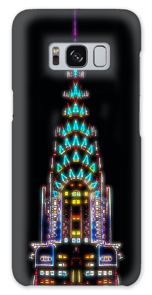 Chrysler Building Galaxy Case - Neon Spires by Az Jackson