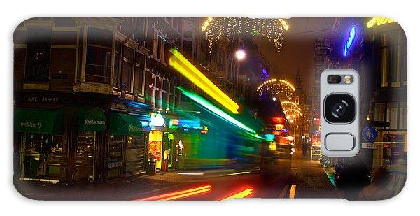 Neon Tram Leidestraat Galaxy Case by Jonah  Anderson