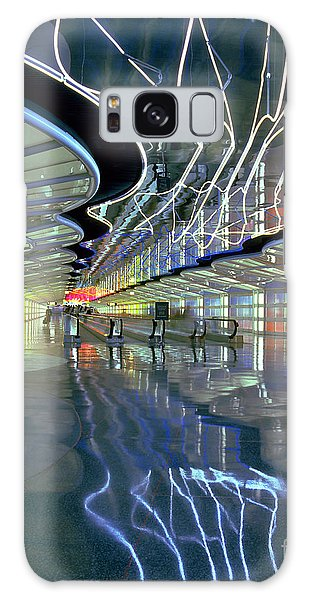 Neon Walkway At Ohare Galaxy Case