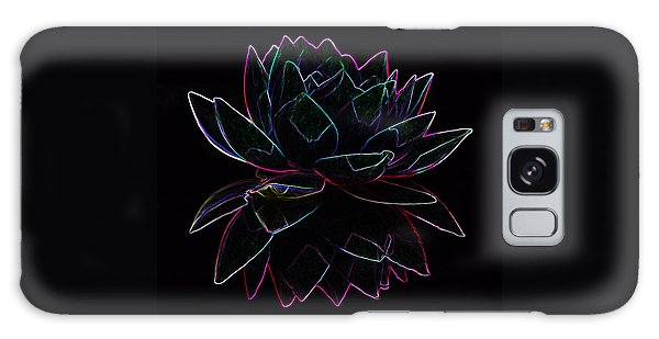 Neon Water Lily Galaxy Case