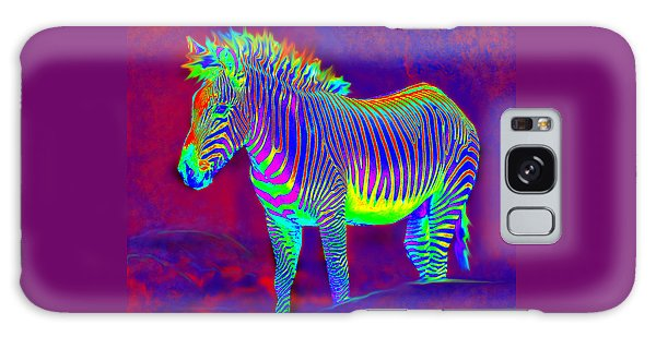 Neon Zebra Galaxy Case by Jane Schnetlage