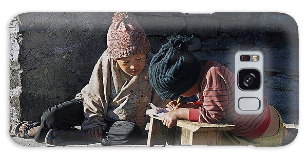 Nepalese Boys Drawing  Galaxy Case