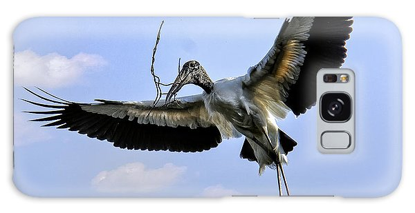 Nest Building Woodstork Galaxy Case