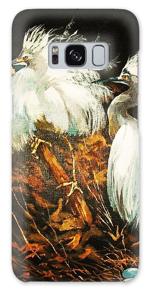 Nesting Egrets Galaxy Case