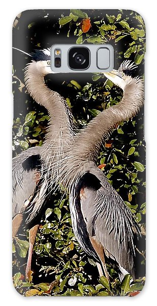 Nesting Great Blue Herons Galaxy Case