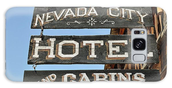 Nevada City Hotel Sign Galaxy Case