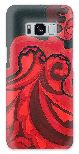 Galaxy Case featuring the painting Never A Flaw My Funny Valentine by Aliya Michelle