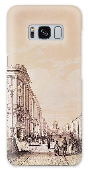 Street Cafe Galaxy Case - Nevsky Prospekt, St. Petersburg, Illustration From Voyage Pittoresque En Russie, 1843 Engraving by Andre Durand