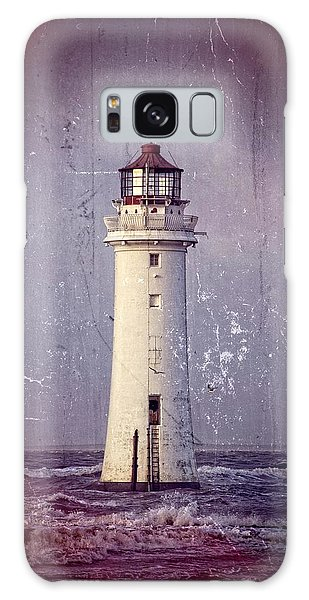 New Brighton Lighthouse Galaxy Case by Spikey Mouse Photography