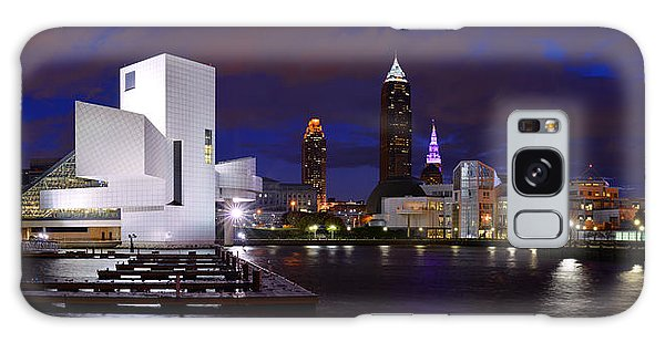 New Cleveland Waterfront With Storm Clouds Galaxy Case