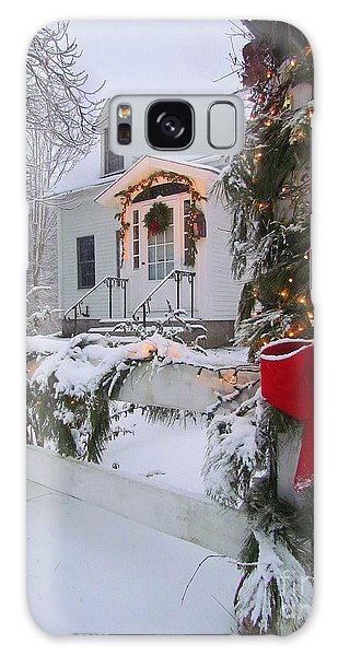 New England Christmas Galaxy Case by Elizabeth Dow