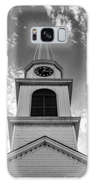 New Hampshire Steeple Detailed View Black And White Galaxy Case by Karen Stephenson