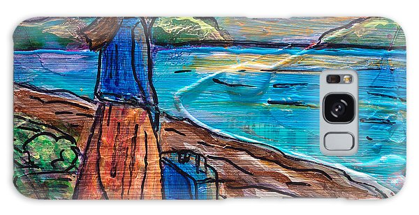 Galaxy Case featuring the painting New Horizons by TM Gand