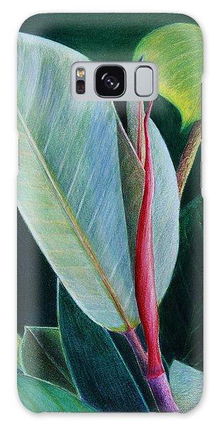New Leaf Emerging. Galaxy Case by Mariarosa Rockefeller