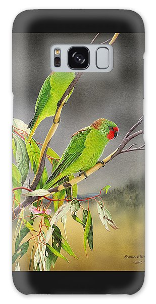New Life - Little Lorikeets Galaxy Case by Frances McMahon