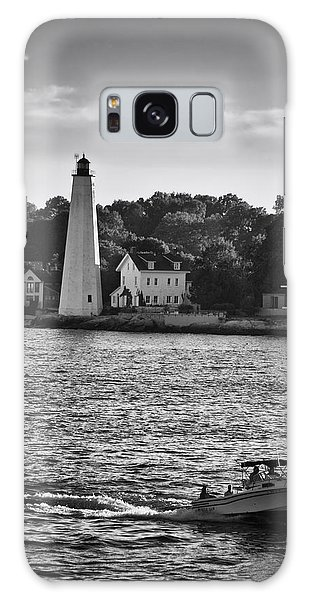 New London Harbor Light Galaxy Case