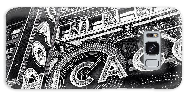 City Galaxy Case - Chicago Theatre Sign Black And White Photo by Paul Velgos