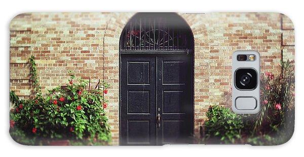 New Orleans Courtyard Door Galaxy Case by Heather Green