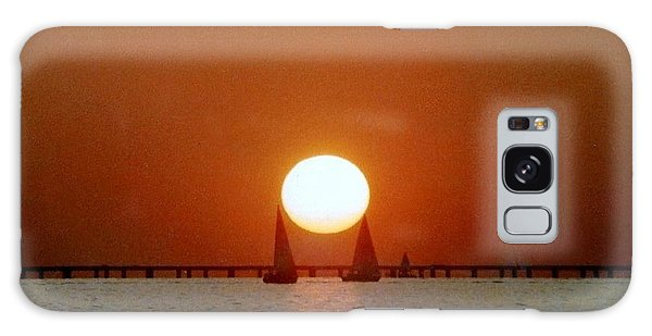 New Orleans Sailing Sun On Lake Pontchartrain Galaxy Case