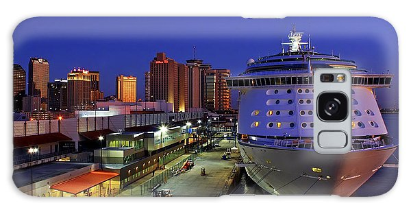 New Orleans Skyline With The Voyager Of The Seas Galaxy Case