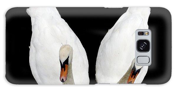 Swans In Love Galaxy Case